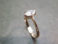 Marquise Diamond Engagement Ring - product images 4 of 9