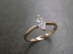 Marquise Diamond Engagement Ring - product images 6 of 9