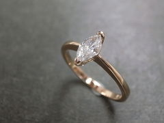Marquise Diamond Engagement Ring - product images 7 of 9