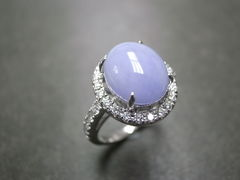 Purple Jade Diamond Ring - product images 3 of 5