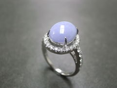 Purple Jade Diamond Ring - product images 2 of 5