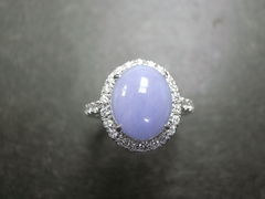 Purple Jade Diamond Ring - product images 4 of 5