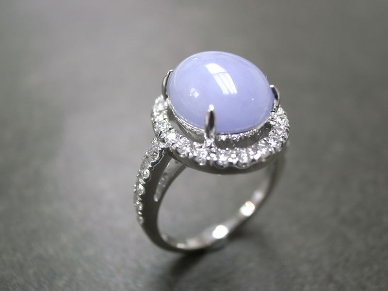 Purple Jade Diamond Ring - product image