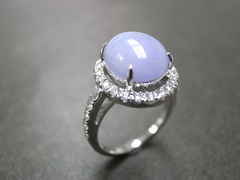 Purple Jade Diamond Ring - product images 5 of 5