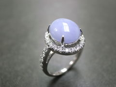 Purple Jade Diamond Ring - product images 1 of 5