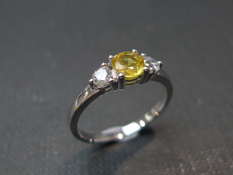 Diamond,and,Yellow,Sapphire,Engagement,Ring,Jewelry, Ring, 3 stone ring, bride, anniversary, white gold, fancy yellow, classic ring,wedding diamond ring, engagement ring,diamond ring, three stone ring, diamond wedding ring, yellow sapphire ring, engagement diamond, diamond, yellow sapphire, 14k whi