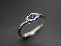Classic Blue Sapphire Engagement Ring - product images 1 of 11