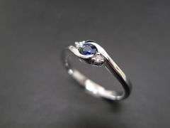 Classic Blue Sapphire Engagement Ring - product images 2 of 11