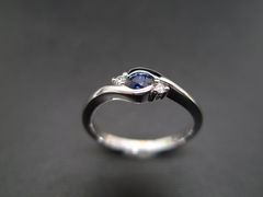 Classic Blue Sapphire Engagement Ring - product images 3 of 11
