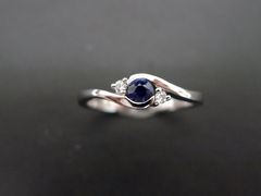 Classic Blue Sapphire Engagement Ring - product images 4 of 11