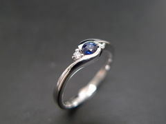 Classic Blue Sapphire Engagement Ring - product images 6 of 11