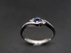 Classic Blue Sapphire Engagement Ring - product images 7 of 11