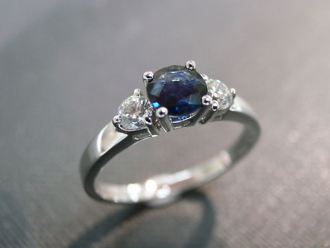 Blue,Sapphire,Diamond,Ring,Jewelry  Ring  diamond  wedding  3 stone ring  anniversary  prong set  heart and arrow  Classic ring Three stones ring  three stone ring  wedding diamond ring  diamond wedding ring  engagement ring blue sapphire ring