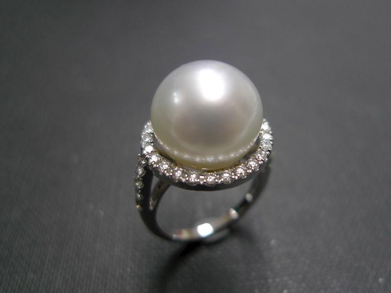 Pearl Diamond Ring Hn Jewelry