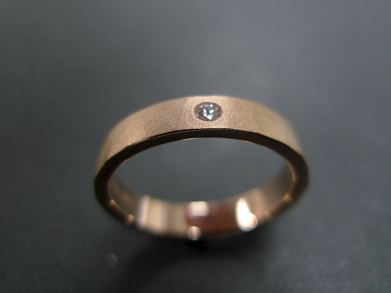 Matte Hammered finish Diamond Ring - product image