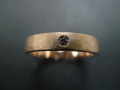 Matte Hammered finish Diamond Ring - product images 4 of 5