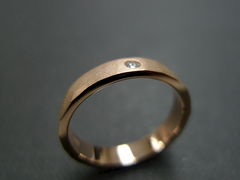 Matte Hammered finish Diamond Ring - product images 5 of 5
