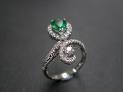 Diamond & Emerald Ring - product images 2 of 6