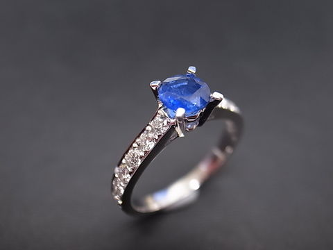 Blue,Sapphire,and,Diamond,Ring,Jewelry  Ring  diamond ring  wedding ring  wedding band  anniversary gift  engagement ring custom ring  classic ring  custom made jewelry  sapphire ring  sapphire diamond  blue sapphire ring blue diamond ring  blue wedding