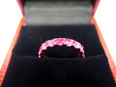 Pink Sapphire Wedding Band - product images 7 of 7