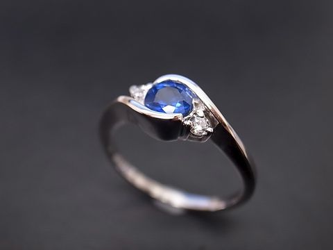 Blue,Sapphire,&,Diamond,Ring,Jewelry  Ring  diamond ring  wedding ring  wedding band  anniversary gift  engagement ring custom ring  classic ring  custom made jewelry  sapphire ring  sapphire diamond  blue sapphire ring blue diamond ring  blue wedding