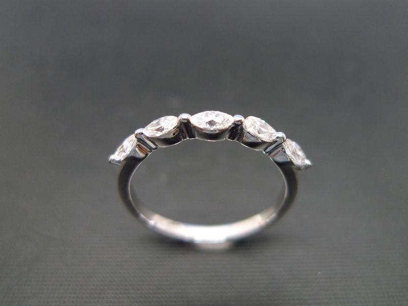 marquise diamond wedding ring product image - Marquise Diamond Wedding Ring