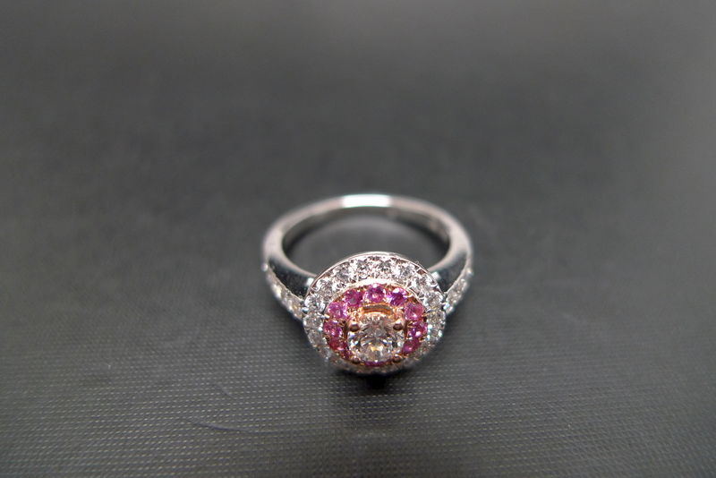 Diamond and Pink Sapphire Ring - product images  of