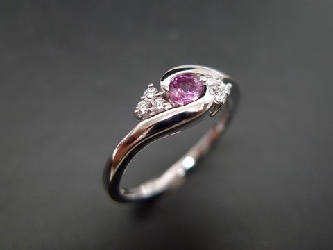 Diamonds,Wedding,Ring,with,Pink,Sapphire,Jewelry  Ring  anniversary  classic ring  wedding diamond ring  engagement ring  diamond ring three stone ring  diamond wedding ring  engagement diamond  diamond ruby ring  pink sapphire ring diamond sapphire  pink  pink diamond ring