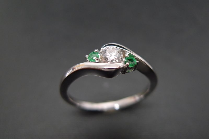 Diamond and Emerald Ring - product images  of