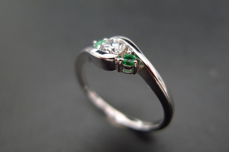 Diamond and Emerald Ring - product image