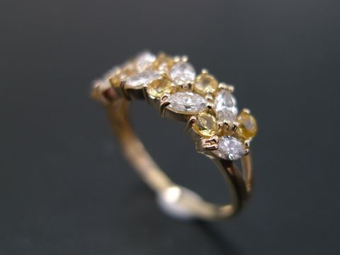 Marquise,Diamond,and,Yellow,Sapphire,Ring,Jewelry  Ring  engagement ring  yellow sapphire diamond band ring  personalized jewelry  marquise diamond wedding diamond ring  marquise shape ring  marquise ring  diamond wedding ring  engagement diamond diamond ring  blue sapphire ring  sapphire ring  b