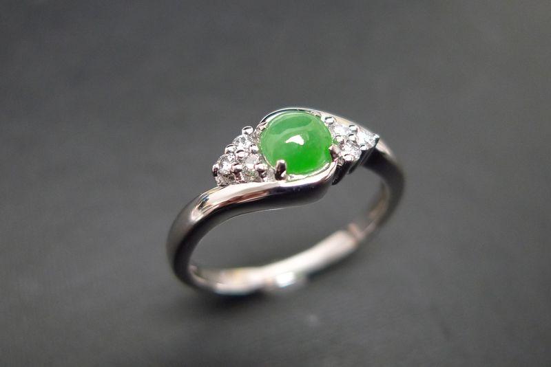jade diamond ring hn jewelry - Jade Wedding Ring