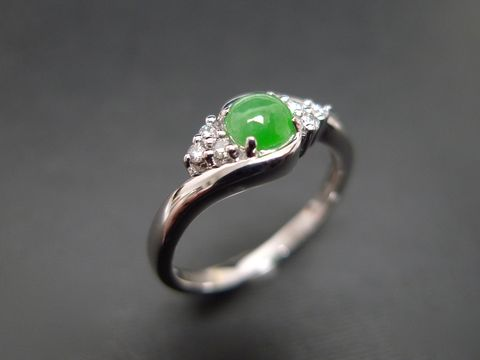 Jade,Diamond,Ring,Weddings  Jewelry  Ring  white gold  jade  green  anniversary  jadeite  classic wedding ring wedding diamond ring  diamond wedding ring  engagement diamond  engagement ring  jade ring jadeite ring  jade diamond ring