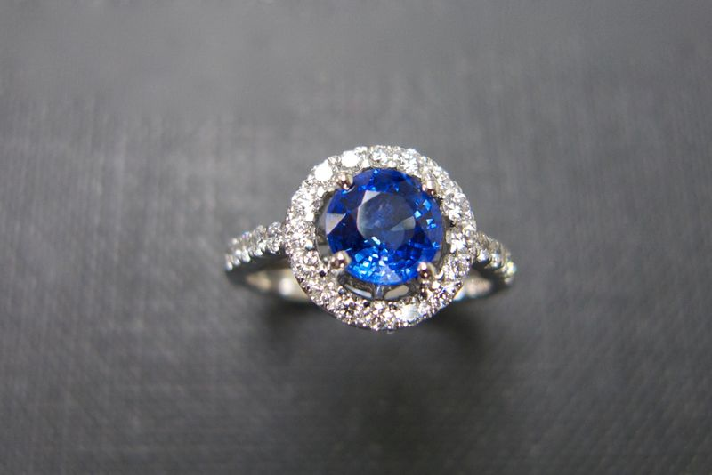 Blue Sapphire and Diamond Ring - product images  of