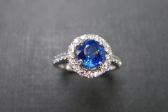 Blue Sapphire and Diamond Ring - product images 3 of 6
