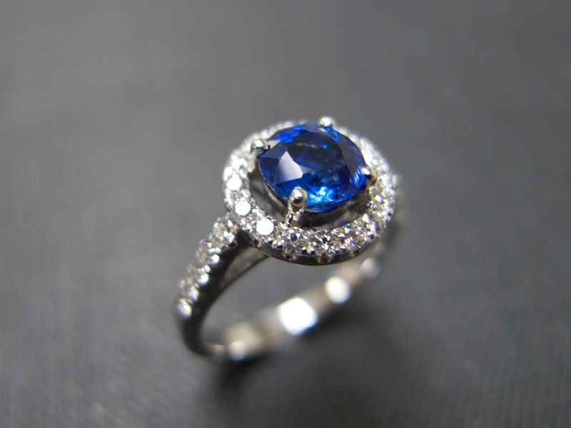 Blue Sapphire and Diamond Ring - product image