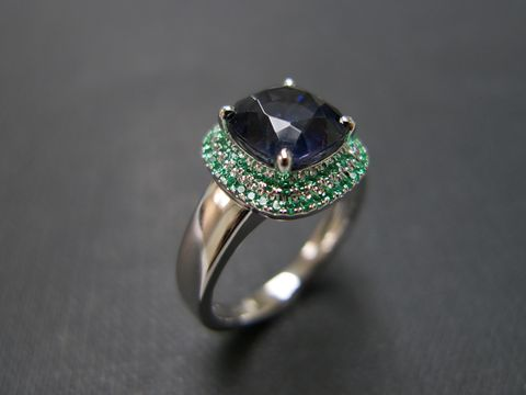 Emerald,and,Blue,Topaz,Ring,Jewelry  Ring  engagement ring  anniversary gift  round brilliant cut  custom made jewelry  classic ring wedding ring  gold ring  natural sapphire  blue sapphire ring  amethyst ring  amethyst  purple gemstone blue gemstone
