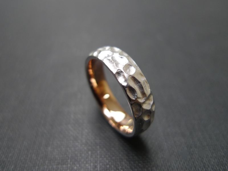 6mm Matte Hammered Men's Ring - product images  of