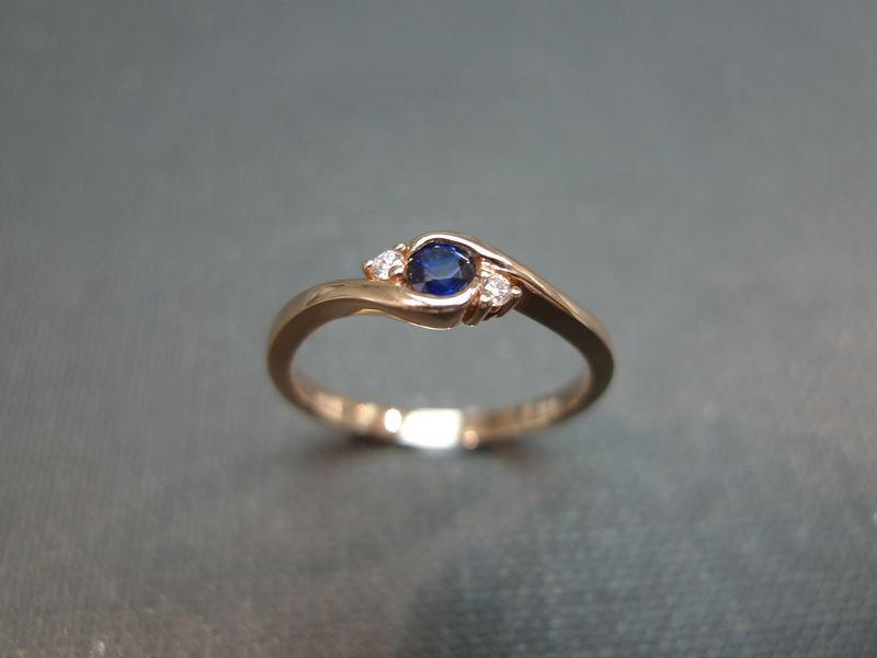 Classic Blue Sapphire Engagement Ring - product images  of