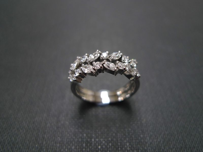 two marquise diamond wedding rings product images of - Marquise Diamond Wedding Ring