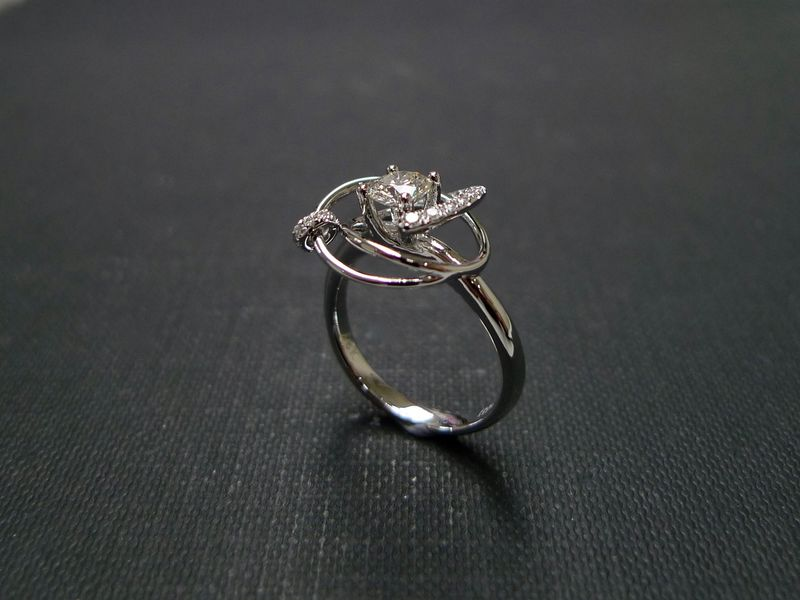 0.40ct DIAMOND IN MOTION RING - product images  of