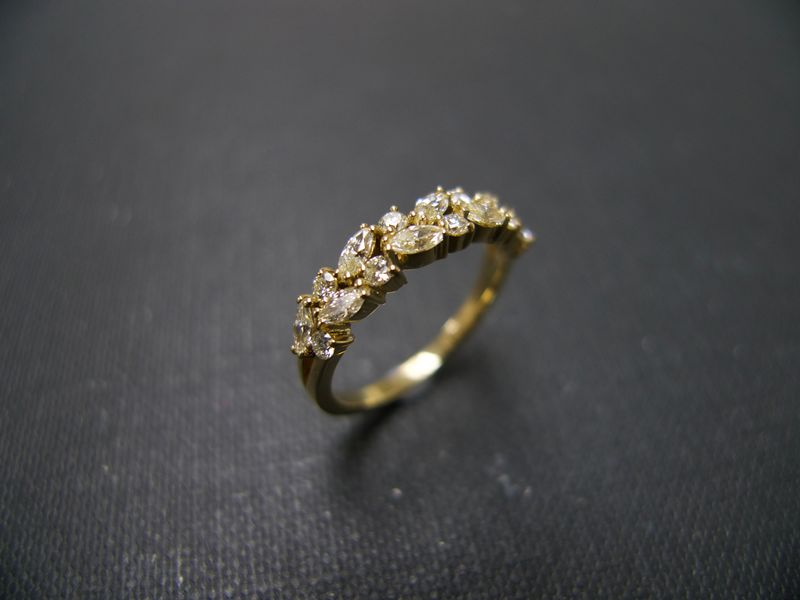 Marquise Diamond Wedding Ring HN Jewelry