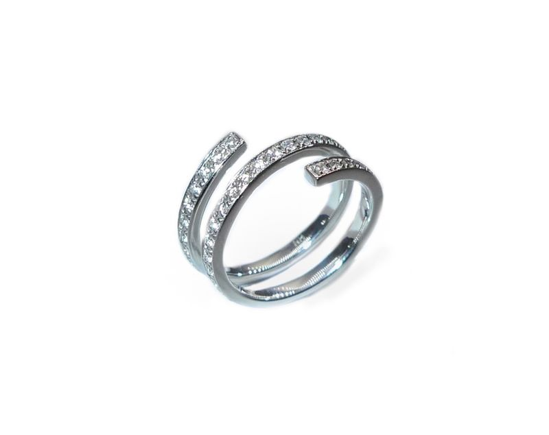 Three-row Diamond Wedding Ring - product images