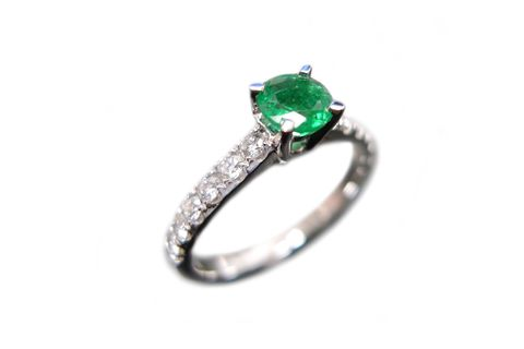 Emerald,and,Diamond,Ring,emerald, emerald ring, emerald band, emerald engagement ring, emerald diamond band, diamond engagement ring
