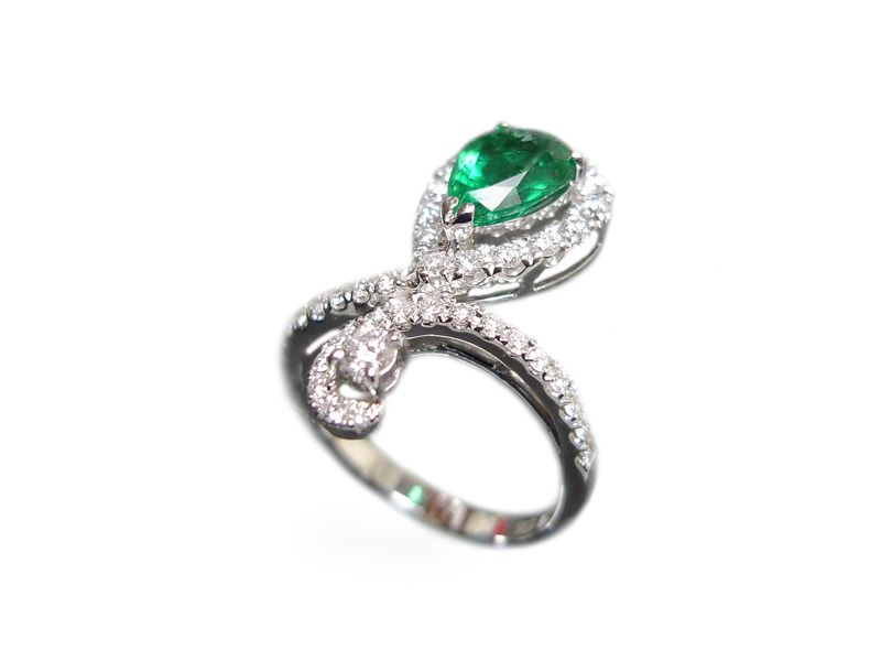 Diamond & Emerald Ring - product images  of