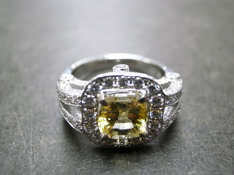 Diamond,and,Yellow,Sapphire,Ring,Weddings, Jewelry, Ring, engagement ring, round brilliant cut, custom made jewelry, wedding ring, diamond wedding ring, wedding diamond ring, diamond engagement, diamond band, diamond ring, yellow sapphire ring, sapphire ring, diamond band ring, ring diam