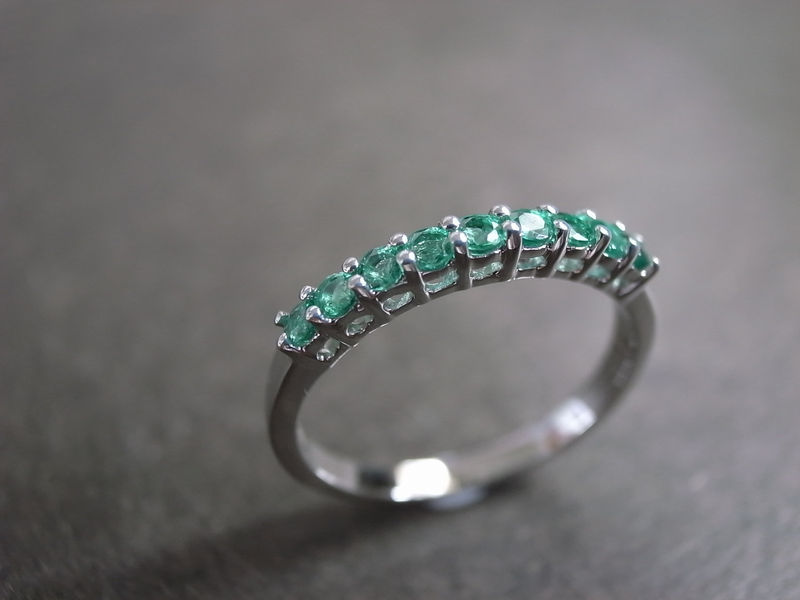 emerald wedding ring product image - Emerald Wedding Ring
