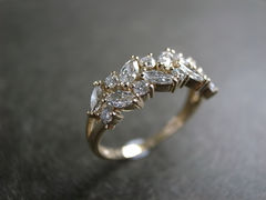 Marquise Diamond Wedding Ring - product images 1 of 12