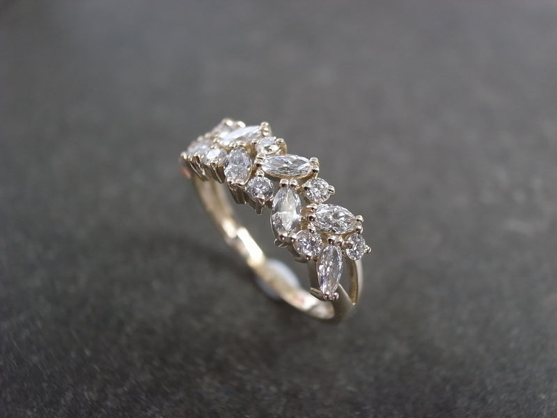 Marquise Diamond Wedding Ring - product image