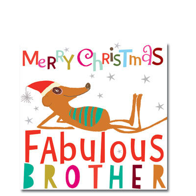 Brother,Meerkat,Christmas,Card,buy brother christmas card online, buy christmas cards for brothers online, brother card, cards for brothers, bro christmas card, meerkat christmas cards